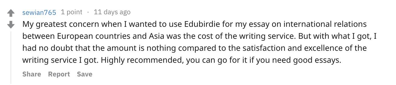 Reddit Edubirdie Review